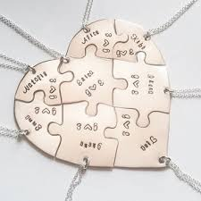 stainless steel puzzle necklace images Best puzzle piece heart necklace products on wanelo jpg