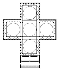 greek cross floor plan cleansing fire church architecture styles byzantine