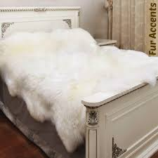 Faux Fur Sheepskin Rug Plush Faux Fur Bedspread Scalloped Fleece Sheepskin Thick