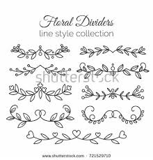 flourishes dividers set line stock vector 483123610
