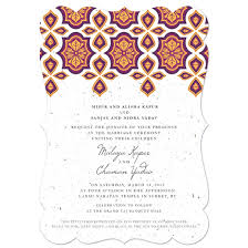wedding invitations indian indian motif plantable wedding invitation plantable wedding