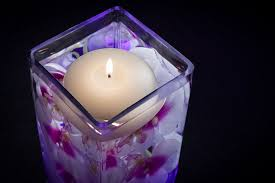 Purple Floating Candles For Centerpieces by Floral Centerpiece With Led Lights And Floating Candle