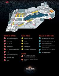 halloween horror nights hollywood map universal orlando halloween horror nights 27 survival guide