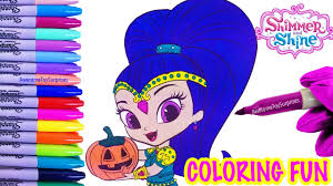 shimmer u0026 shine coloring fun coloring activity kids