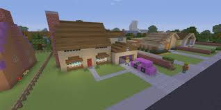 someone built all of springfield in minecraft to recreate the