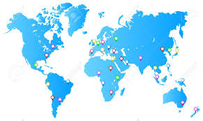 world map stock image most important city capitals map pins on world map royalty free