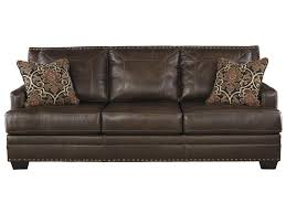 Signature Design By Ashley Corvan Leather Match Sofa With Coil - Sofa seat design