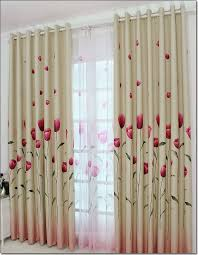 Dusty Pink Curtains Free Shipping High Grade Green Shading Thick Tulip Garden Living