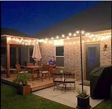 Hanging Patio Lights by 25ft Outdoor G40 Globe String Lights Vintage Backyard Patio