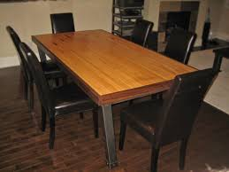 Custom Made Dining Room Furniture Hand Made Dining Table Iron U0026 Reclaimed Bowling Lane By Desiron