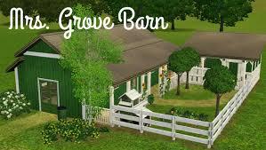 sims 3 house building starter home mrs grove barn youtube