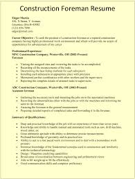 construction resume exles construction foreman resume template for microsoft word