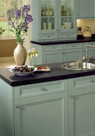duck egg blue chalk paint kitchen cabinets duck egg blue cabinets and black counters chalk paint