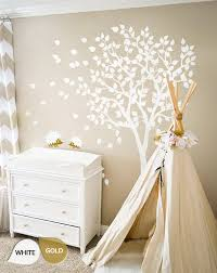 White Tree Wall Decal Nursery White Tree Wall Decals Nursery Wall Decal Large Room