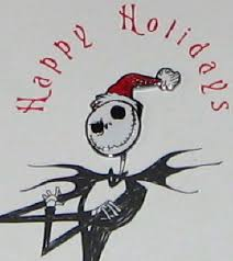 nightmare before santa pin back on card mip