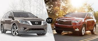 nissan pathfinder towing capacity 2016 2016 nissan pathfinder vs 2016 toyota highlander