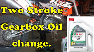 how to change the gearbox oil in a 2 stroke youtube