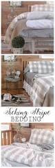 ticking stripe bedding creative cain cabin