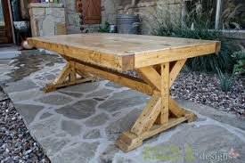 Free Diy Patio Table Plans by Ana White Build A Chunky X Base Table Featuring Killer B