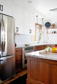 best way to clean top of kitchen cabinets stunning kitchen designs with two toned cabinets stained