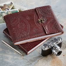 handmade photo album handmade indra medium leather photo album by paper high