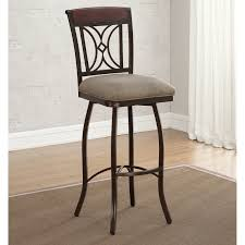 Repainting Wrought Iron Furniture by Brewn Painted Wrought Iron Extra Tall Bar Stool Using Beige Canvas