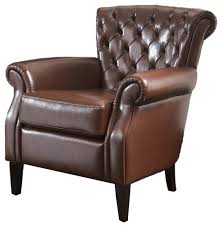 Leather Wing Back Chairs Tufted Leather Wingback Chair Houzz
