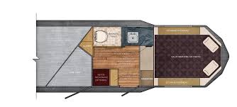 7 ft wide 7 7 living quarter trailer floor plan trails west