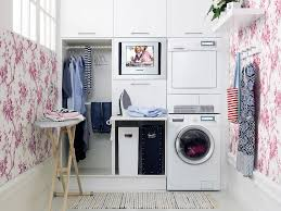 Decorate Laundry Room Interior Design Modern Stackable Washer Dryer For Your Laundry