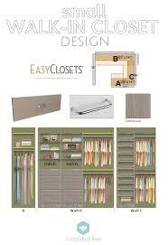 Closet Pictures Design Bedrooms Small Walk In Closet Design Easyclosets Simplified Bee