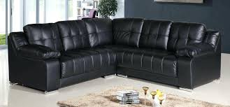 Black Microfiber Sectional Sofa Black Microfiber Bosli Club