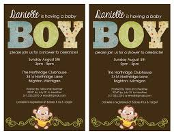 photo monkey baby shower invitations walmart image