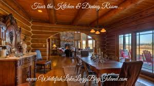 luxury log home whitefish lake montana tour the kitchen u0026dining