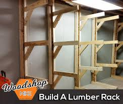 Free Standing Wooden Shelving Plans by Free Standing Lumber Rack 4 Steps With Pictures