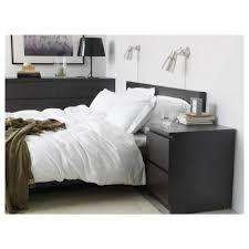 Modern Black Nightstands Nightstand Black Nightstand Set Malm Drawer Chest Brown Ikea