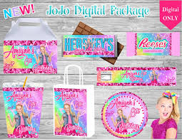 labels for party favors jojo siwa hip hop digital packagebirthdaycustom party