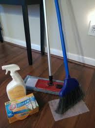 cheap clean hardwood floors for hair clean up