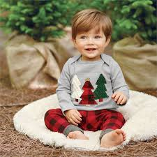 baby boy christmas mud pie alpine tree two set shop christmas