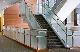 Stair Banister Glass Metal Handrail U0026 Guardrail Systems Made With Steel U0026 Glass