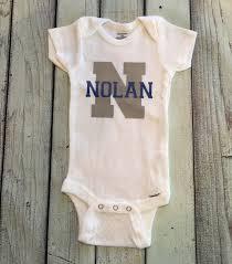 baby boy onesie name monogram initial bodysuit for boys