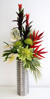 home decoration fabulous red artificial floral arrangements with