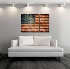 american flag home decor triptych vintage american flag canvas print flag poster vintage