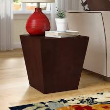 wood cube end table latitude run barnesville multifunction storage cube end table