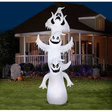 halloween inflateables 12 u0027 airblown inflatables giant ghost stack scene halloween