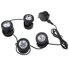 submersible led fountain lights image 25w 200ma submersible underwatar 4 led multiple color fountain
