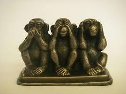 three wise monkeys on a base bronze ornament figurine ebay