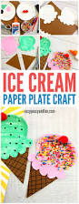 paper plate ice cream craft summer craft idea for kids easy