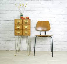 Hairpin Legs Los Angeles by Hairpin Legs Vintage Oak Library Index Drawers Filing