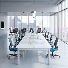 oxygen modern collaborative open office workstation desk table