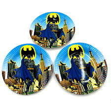 batman party supplies 10pcs lot batman plates batman dishes kids birthday party favors